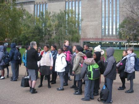 Sightseeing outside Tate Modern