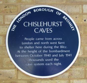 Chislehurst Caves Plaque