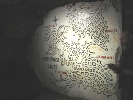 Map of Chislehurst Caves